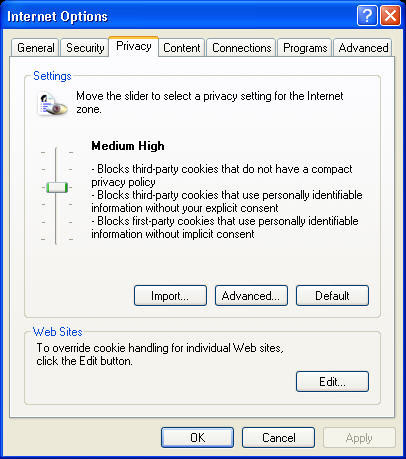 Internet Explorer Privacy