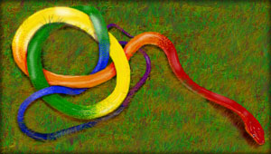 Green Mage The Rainbow Serpent